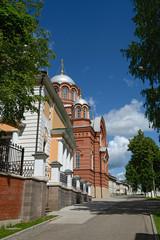 View towards Nicholas Cathedral of Intercession Khotkovo Monaste