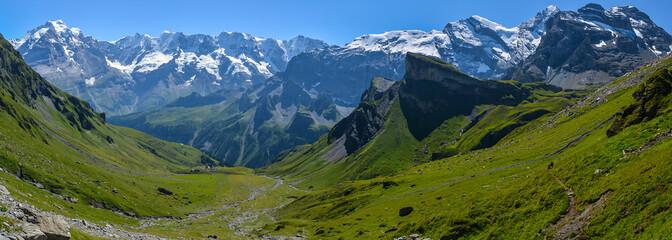 Mountain landscape - Switzerland Alps Panorama