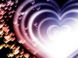 Hearts Bokeh Background for Valentines day