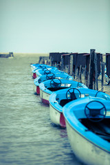 Line of boats