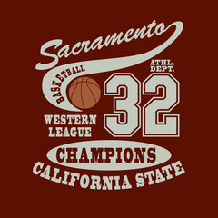 Sacramento Basketball t-shirt
