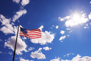 American flag against sky