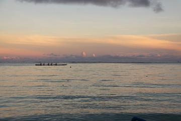 オセアニア グアム島 アメリカ 早朝 ビーチ