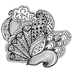 Hand drawn Zentangle vector pattern. Use for cards, invitation, wallpapers, pattern fills, web pages elements and etc.
