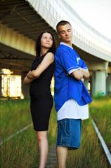 couple on rails