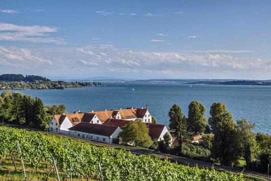 Blick über den Bodensee - Basilika Birnau
