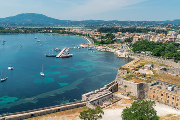 Historic center of Kerkyra town on the island of Corfu in Greece.