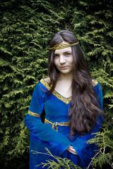 elf princess  looking from bush