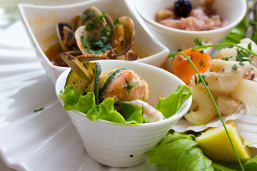 Photo sur Plexiglas Entree Seafood entrees