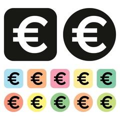 Euro symbol. EU Currency icon. Money icon. Vector