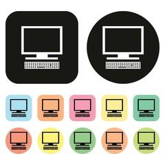 Computer icon. vector