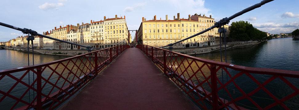 Panoramic view Paul Couturier bridge