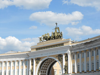 Russia, Saint-Petersburg, decoration of General staff arch
