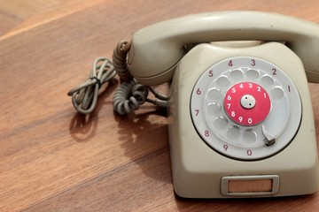 old phone of vintage style