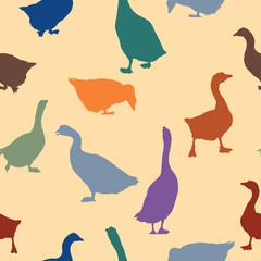 Geese seamless pattern