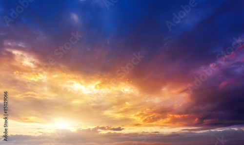 Wall mural sunset sky