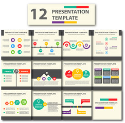Colorful multipurpose Presentation Template set