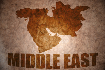 vintage middle east map