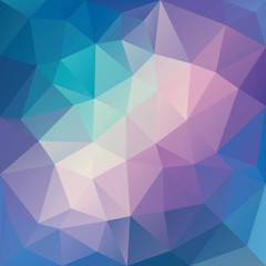 Purple and blue low polygon mosaic background, vector design