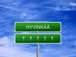 Hyvinkaa City Finland Sign