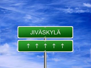 Jivaskyla City Finland Sign