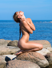 Young beautiful naked woman