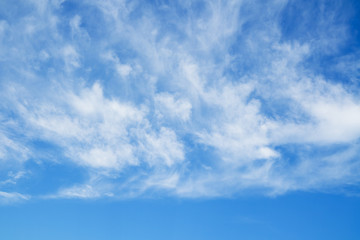Blue sky and clouds. Sky background.