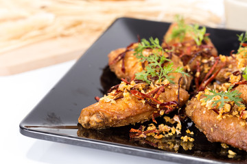 Fried chicken wings spicy