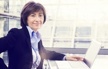 Portrait of senior businesswoman at office