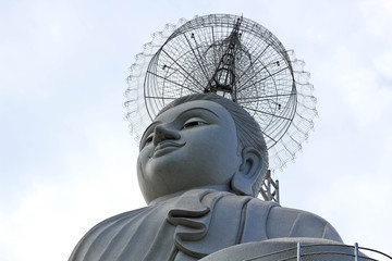 Big Buddha statue at Wat Nong Hoi Temple, Ratchaburi THAILAND