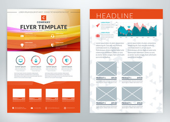 Vector Business Flyer Template for Business Purpose