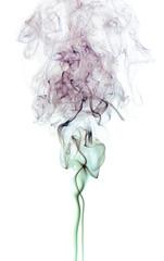 Color Smoke On White