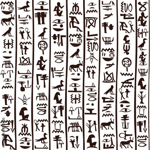 """Egyptian Hieroglyphics Seamless Background"" Stock Image"