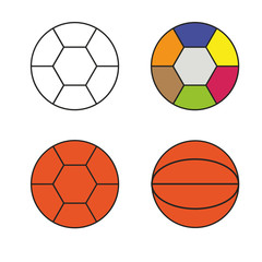 four multicolored balls vector illustration