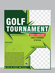 golf tournament flyer & magazine design