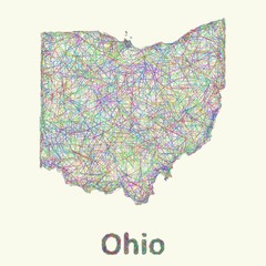 Ohio line art map