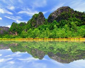 the beautiful scence in laos