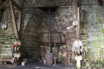 Cast iron steel works