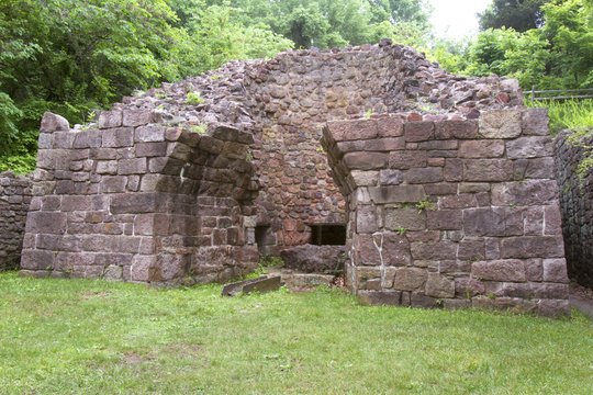 Anthracite coal furnace at Hopewell Furnace, Berks County, PA.