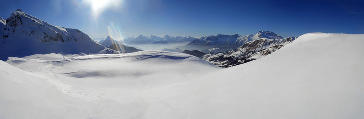 mountain snow panorama
