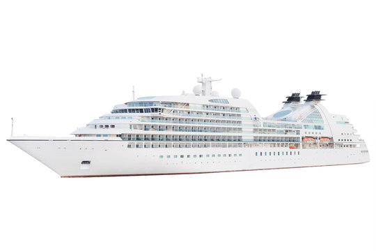 The image of an isolated cruise ship