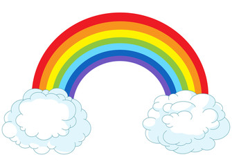 Canvas Prints Fairytale World Rainbow