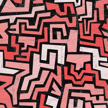 Red mosaic