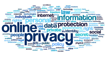 Online privacy in word tag cloud
