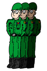 Cartoon soldiers