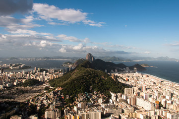 Wall Mural - Copacabana and South Zone with Sugarloaf Mountain in Rio