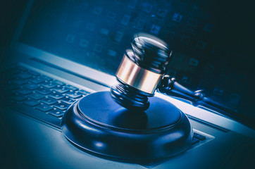 Internet web hacking hi tec crime concept image