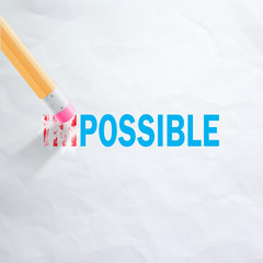 Changing impossible to possible.Vector illustration