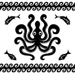 Octopus sea pattern