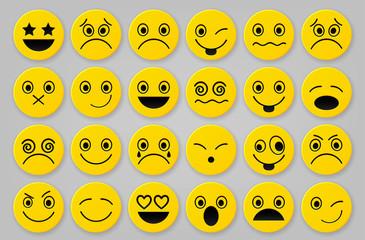 Yellow smiley icon sets